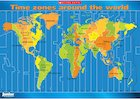 Time zones around the world  – map poster