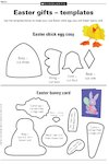 Easter gifts - templates (1 page)