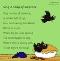 Sing a Song of Sixpence poster (1 page)