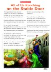 'All of Us Knocking on the Stable Door' Christmas poem (1 page)