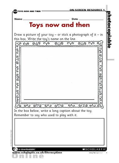 Toys Now And Then Activity Sheet Primary Ks1 Teaching Resource