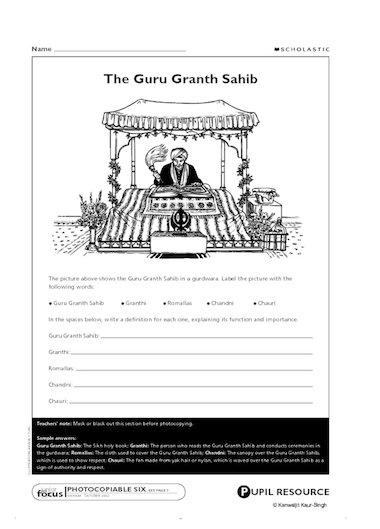 Sikhism: Guru Granth Sahib – Primary KS2 teaching resource ...