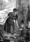 Victorian girl working in brickyard – poster