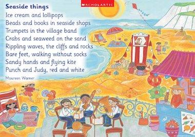 Seaside things' poem poster – Early Years teaching resource ...