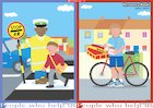 People who help us – lollipop person and postal worker – poster