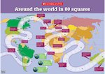 Around the world in 80 squares boardgame (1 page)