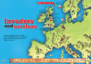 Invaders and settlers poster free primary ks2 teaching resource click to download gumiabroncs