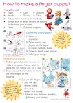How to make a finger puppet (1 page)
