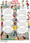 'The Bully' poem poster