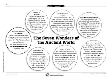 7 Wonders Of World Pdf