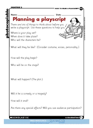 How to set out a play script