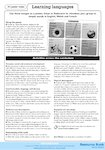 Learning languages - activities (1 page)