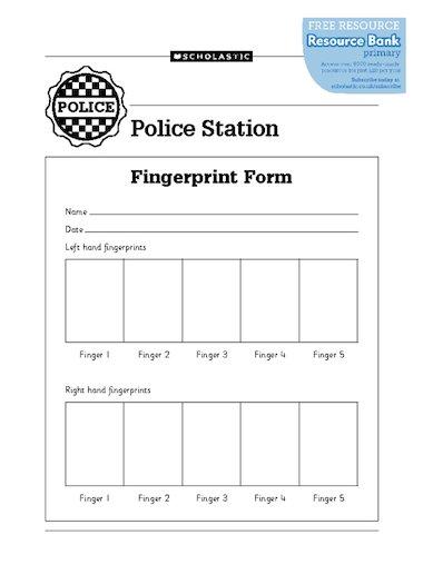 Fingerprint form – FREE Primary KS1 teaching resource - Scholastic