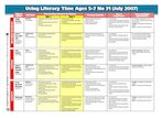 Using Literacy Time Ages 5-7 Issue 31 (1 page)