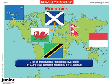 Mountains interactive map poster primary ks2 teaching resource interactive flash gumiabroncs Choice Image