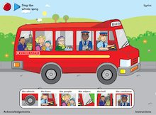 The Wheels on the Bus - interactive