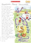 Questions about slowworms - poem poster