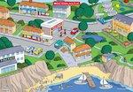 Seaside town image