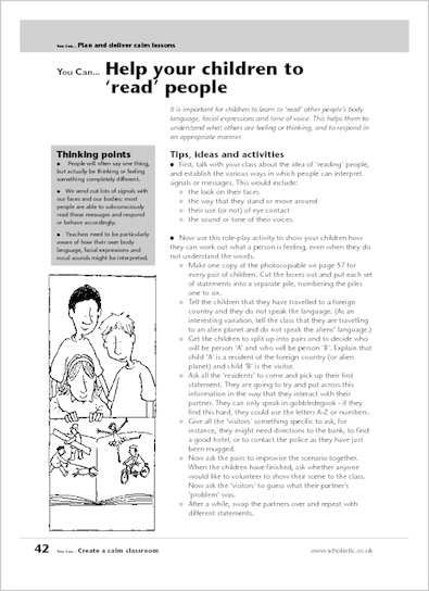 Help your children to 'read' people