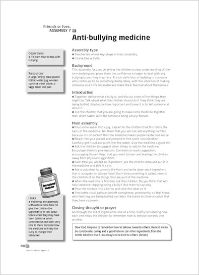 Anti-bullying medicine