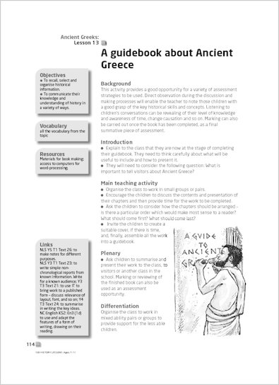 A guidebook about Ancient Greece