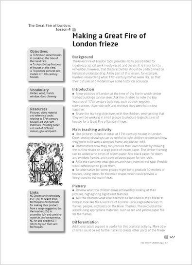 Making a Great Fire of London frieze