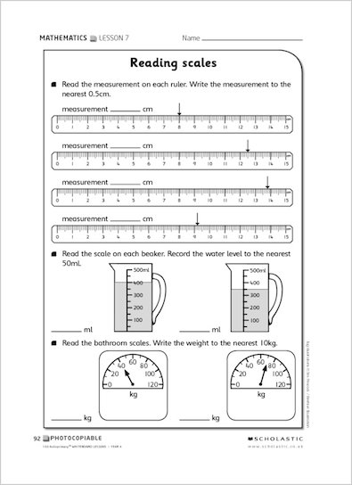 Reading Scales