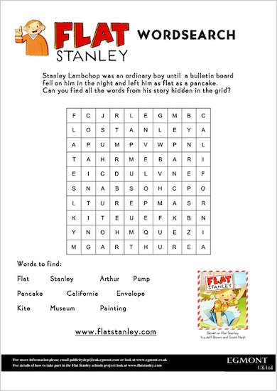 Flat Stanley Wordsearch