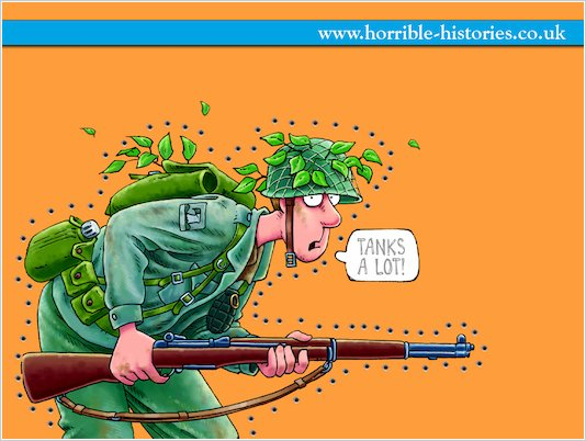 Horrible Histories Soldier Wallpaper