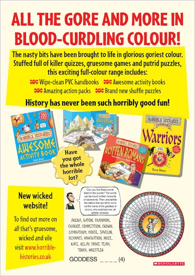 Horrible Histories Wordsearch