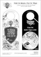 Beast Quest Doorhanger