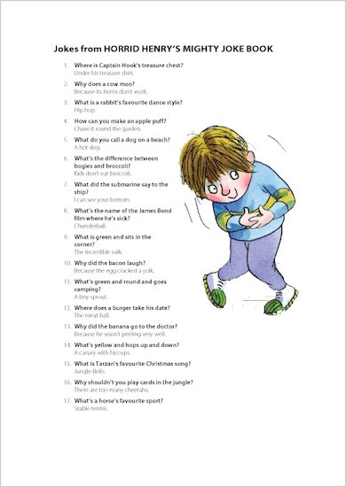 Horrid Henry's Favourite Jokes!
