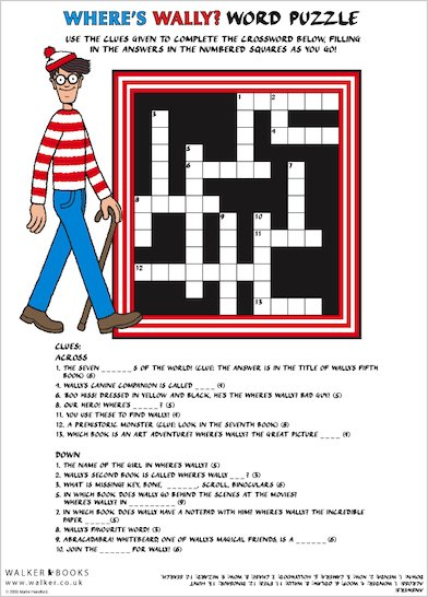 Where's Wally Crossword