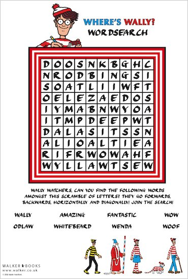 Where's Wally Wordsearch