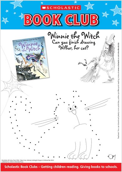 Winnie the Witch Dot-to-dot