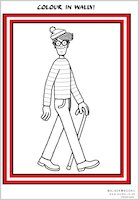 Colour in Wally!
