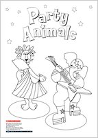 Party Animals Colouring