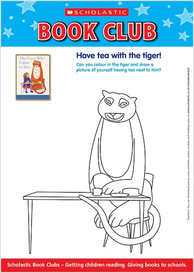 Tiger Who Came to Tea Colouring Activity