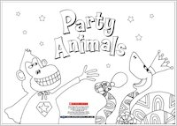 Party Animals Colouring Activity