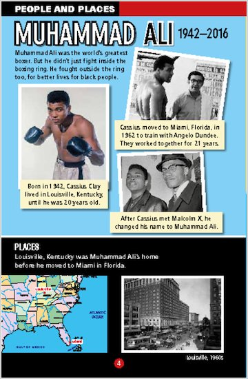 Muhammad Ali sample people and places page