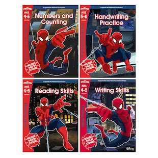 Marvel Workbooks Ages 4-5 Pack x 4