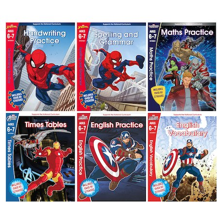 Frozen /& Spiderman English /& Maths Workbook School Kits with Stickers Ages 5-6