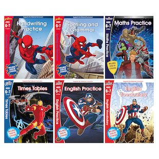 Marvel Workbooks Ages 6-7 Pack x 6
