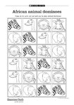 African animal dominoes (1 page)