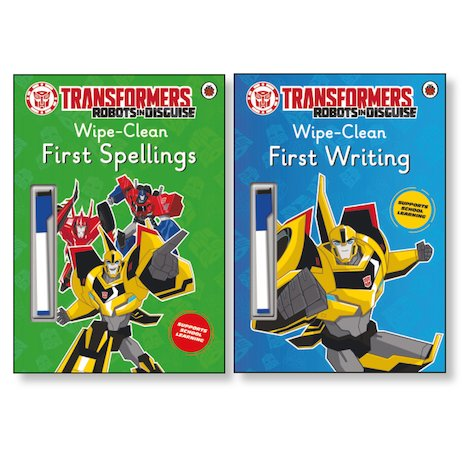 Transformers Wipe-Clean Learning Pair