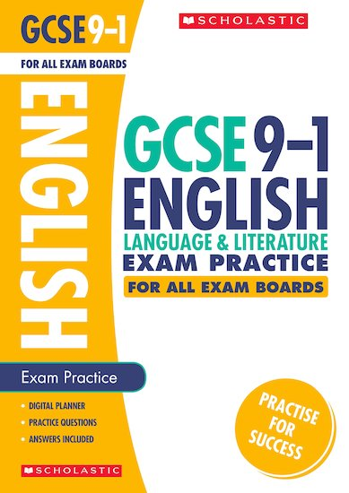 GCSE Grades 9-1: English Language and Literature Exam Practice Book for All Boards x 10