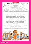 'The new school year' poem (1 page)