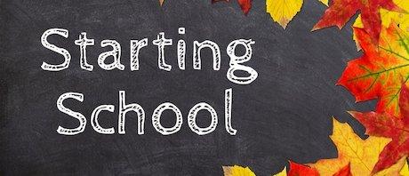Starting School Blog Header