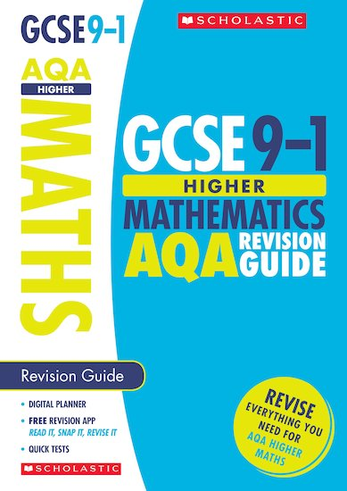 GSCE Grades 9-1: Higher Maths AQA Revision Guide x 10