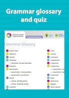 Grammar glossary and quiz